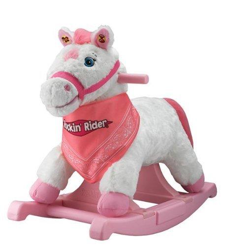 Rockin Rider Rocking Pony White and Pink with Bandana by Tek Nek