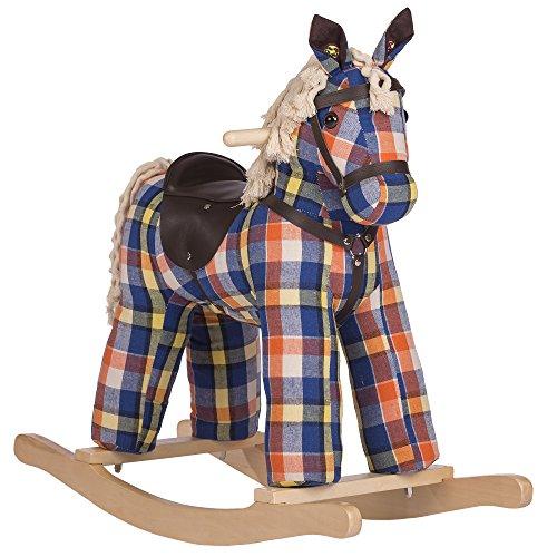 Rockin Rider Checkers Vintage Rocking Horse Plush