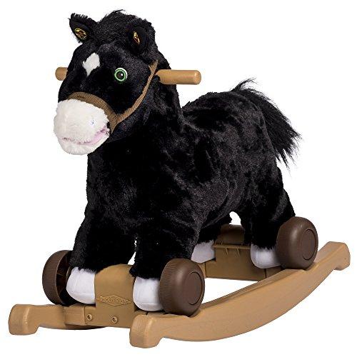 Rockin Rider Cocoa 2-in-1 Pony Plush Ride-On Black