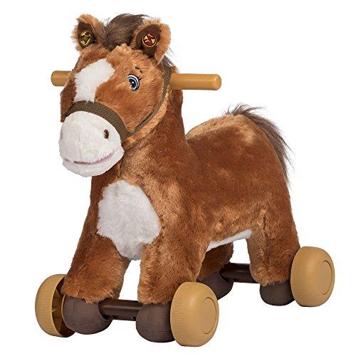 Rockin Rider Peanut Rolling Pony Plush Brown