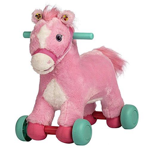 Rockin Rider Precious Rolling Pony Plush Pink