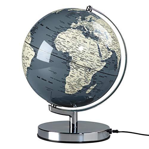 Illuminated Geographic World 10 Desk Globe with Stand LED Lighting and USB Plug