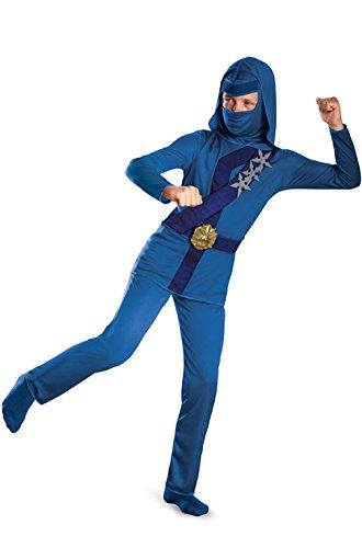 Mememall Fashion Blue Thunder Stealth Ninja Child Costume