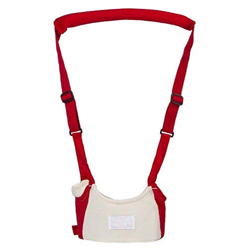 Baby Safe Infant Walking Belt Kid Keeper Walking Learning Assistant Toddler Adjustable Strap Harness Red