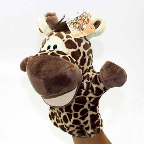 Shalleen Story Learning Baby Kid Children Zoo Plush Toy Animal Hand Glove Puppets Cute  Giraffe