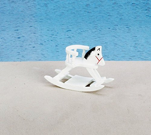 Dollhouse Miniature 112 Scale White Rocking Horse D0550