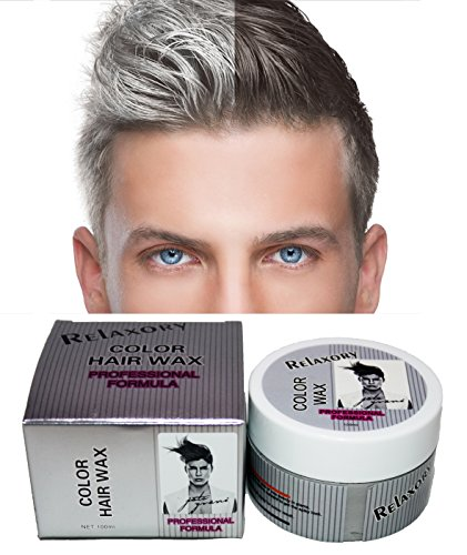 Relaxory Temporary Color Hair Wax Molding Clay Gery White Purple Gold Blue Pink For Men Girl Party Grey