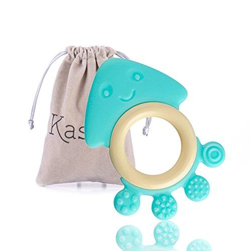 Baby Molar Toy Cute Cartoon Octopus Shape Teething Chew ToyBlue