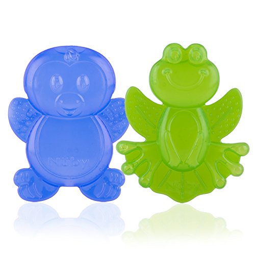 Nuby 2-Pack Kool Soother Water-Filled Teethers Styles May Vary
