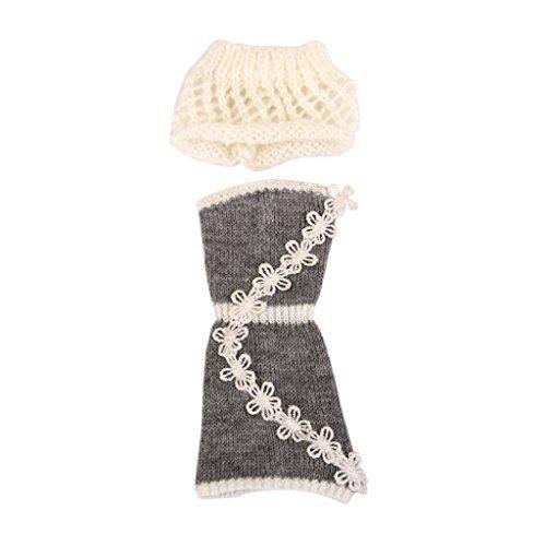 No brand goods set dress Barbie Doll 16 DIY dress clothes crochet fashion with a hat