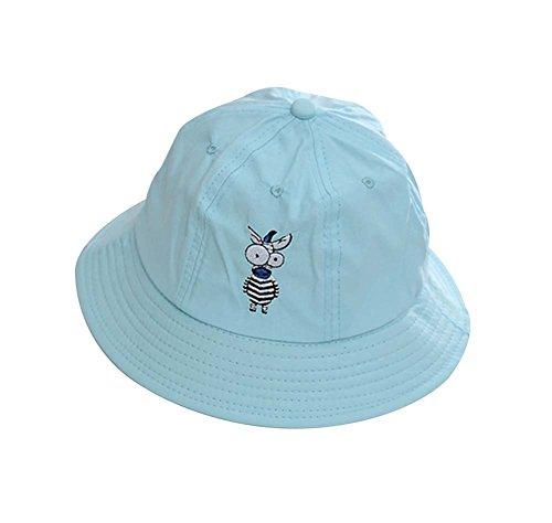 Blue Fashion Hat Foldable Hat Bucket Hat Zebra Pattern