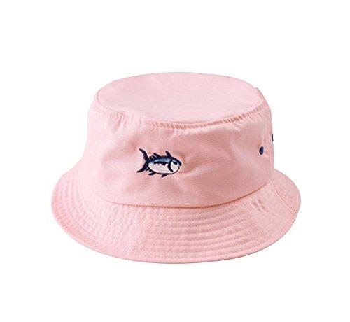 Fashion Hat Foldable Hat Bucket Hat Pink Fish