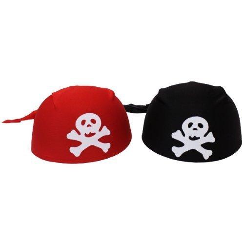 Funny Fashion Hat Pirates Cap  Bandana Red Or Black by Funny Fashion