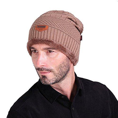 Unisex Faux Fur Trimmed Winter Fashion Hat M khaki