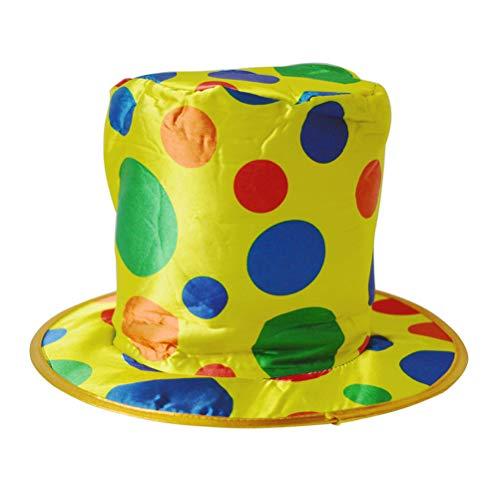 BESTOYARD Magic Hat Straight Barrel Gold Cloth Flat Top Clown Splicing Hat Sports Sequin Headgear