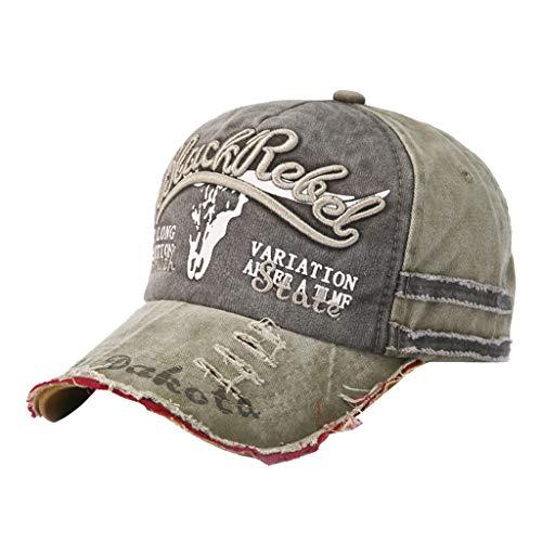 Cuekondy Unisex Retro Plain Baseball Cap Washed Dad Hat Trucker Cap Sport Snapback Hip-hop Hat Vintage Washed Plain Hat