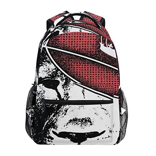 FAKAINU Hipster Lion With Sports Hat And Digital Grunge Effects African KingHigh-Capacity Personalized Backpack Shoulder Bag Daypack School Bag Bookbag Travel Bag 16