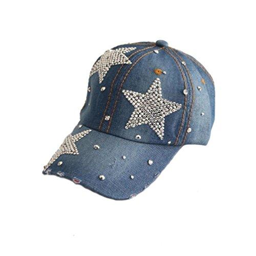 Lavany Sport HatsClassic Baseball Caps Rhinestone Demin Adjustable Trucker Dad Hats D