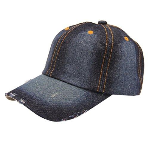 NEARTIME Baseball Cap Jean Sport Hat Denim Baseball Cap Sun Hat D