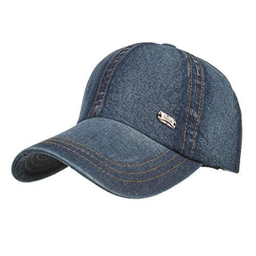 Unisex Fashion Denim Cap Baseball CapMen Women Adjustable Sun Hat Casual Sport Hats Dance Hat Navy