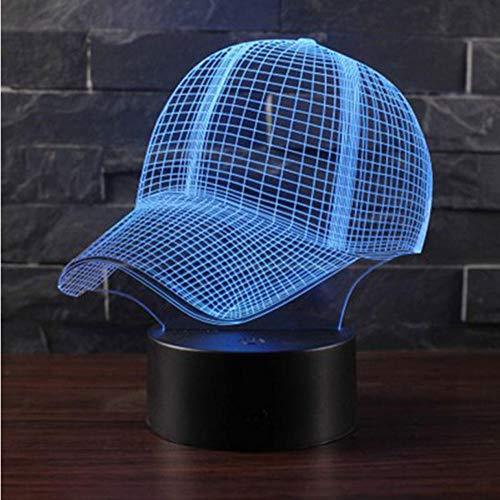 Zonxn Night Light Sport Hats Theme 3D Lamp Led Night Light 7 Color Change Touch Mood Lamp Christmas Present