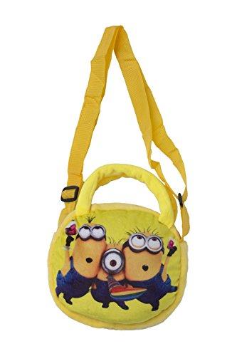Minion Soft Plush Handbag Purse for Kid Toddler by QS