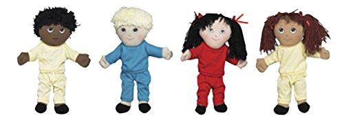Childrens Factory Multi-Ethnic Dolls Set of 4
