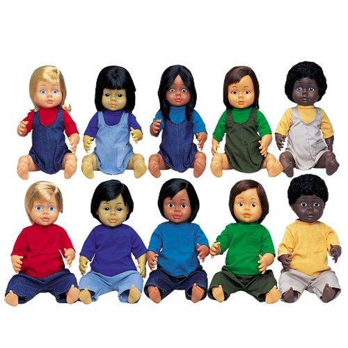 Constructives Multi-Ethnic Dolls - Set of 10 Ethnically Correct 16