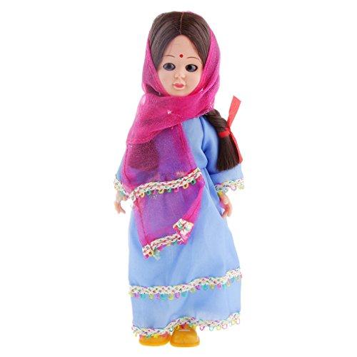 Vintage Costume Clothing Ethnic Doll Girl Toy Travel Souvenir Gift-India B
