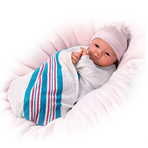 The Ashton-Drake Galleries Sandy Faber Newborn Baby Girl Doll