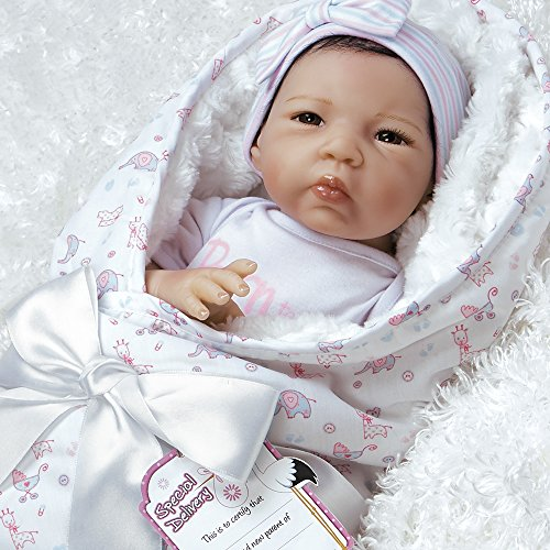 Paradise Galleries Reborn Asian Baby Doll in Lifelike Flextouch Silicone Vinyl Baby Bundles Spoiled 19 inch 7-Piece Ensemble