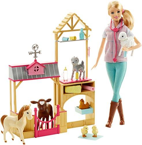 Barbie Careers Farm Vet Doll Playset