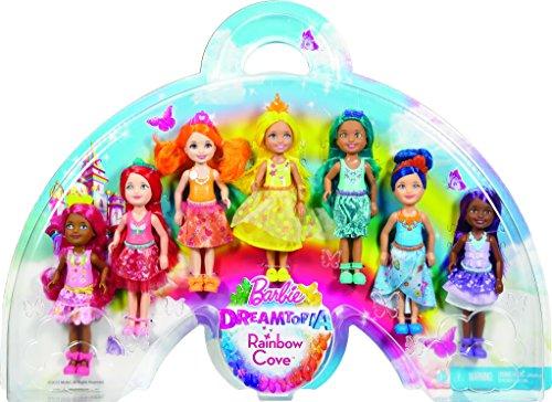 Barbie Dreamtopia Rainbow Cove 7 Doll Gift Set