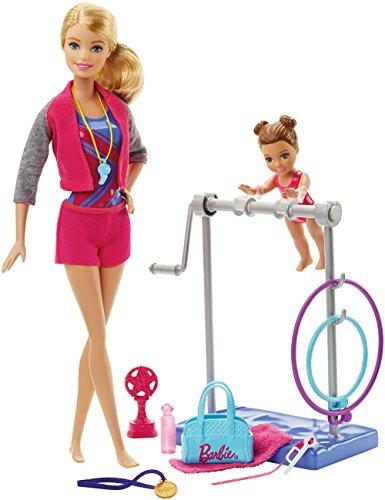 Barbie Gymnastic Coach Dolls Playset