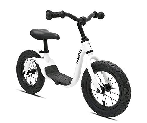 KaZAM Alloy No Pedal Balance Bike 12-Inch Pearl White
