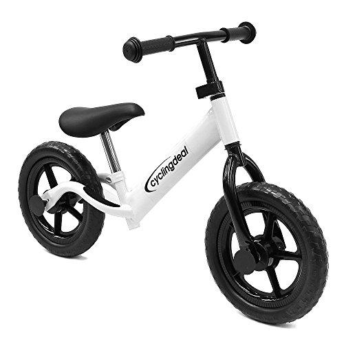 Kids Child Push Balance Bike Bicyle 12 White by CyclingDeal