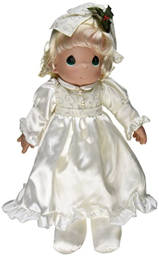 The Doll Maker 2014 Linda Rick Precious Moments Christmas Elegance Stocking Doll