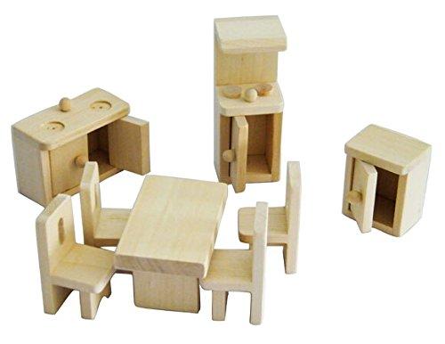 Mini Wooden Dollhouse Furniture Set Kitchen