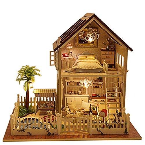Rylai Wooden Handmade Dollhouse Miniature DIY Kit - Paris Apartment Wooden Dollhouses FurnitureParts132 Scale Dollhouse