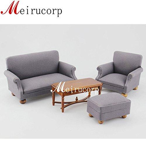 Fine 112 scale dollhouse miniature furniture Living room set Sofa table