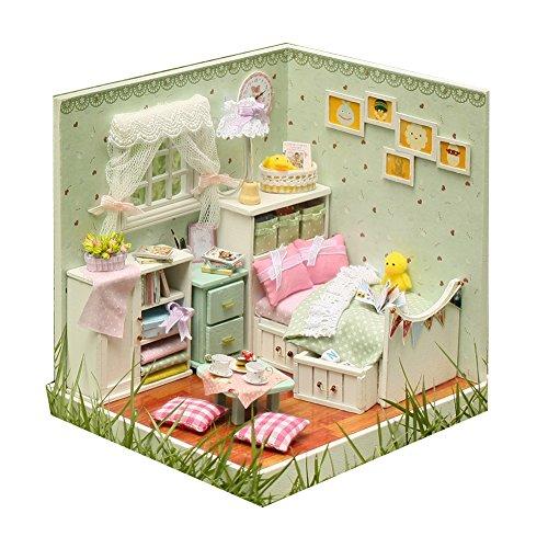 LianLe DIY Dollhouse Miniatures Furniture Kits Room