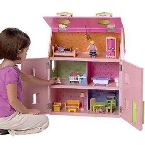 KidKraft Butterfly Mansion Pink Dollhouse Complete Doll Furniture Set