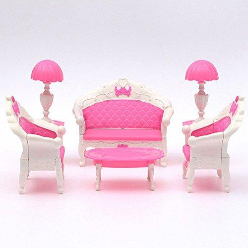 Pink Lizard Pink Dollhouse Furniture Living Room Parlour Sofa Set