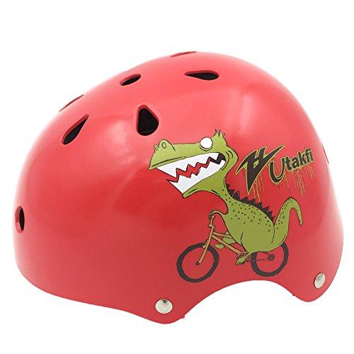 BeBeFun Toddler and Kids BicyleScooter&Skate helmet No 1 Choice Red Dinosaur 2-7 Year