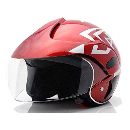 JOLIN Children Protective Warm Bicycling Motorcross Shakeproof Kids Helmets with HD Windscreen Red Arrows