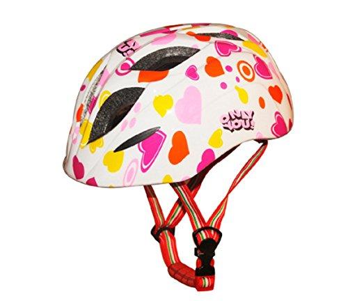 Kids Cycling Bike Helmet Road Mountain Racing Rollerblading Skate Inline Skating Helmets for Children -White