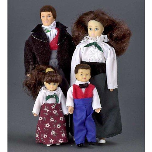 Modern Dollhouse Family of 4pcs