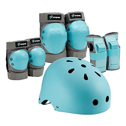 Spofine Kids Bike Helmet Toddler Helmet Adjustable for Kids Youth Adult Knee Pads Elbow Pads Wrist Guards Kids Protective Gear Set for Skateboard Bike Roller Skating Cycling Scooter Rollerblade