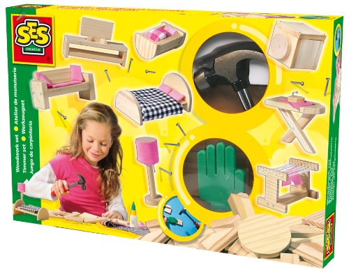 SES Creative Make Your Own Doll House Furniture Kit