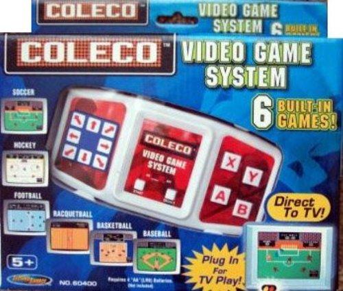 Coleco Plug-n-play Tv Video Game System Soccer Hockey Football Racqetball Basketball Baseball